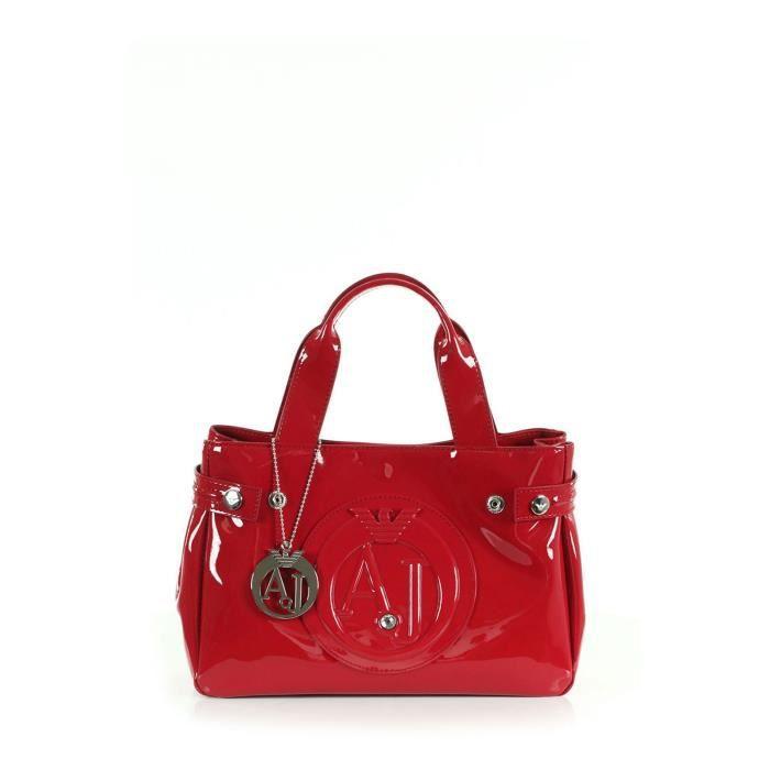 magasin d'usine 8075b 373fe Sac à main vernis Armani Jeans rouge 05235 55.44. - Achat ...