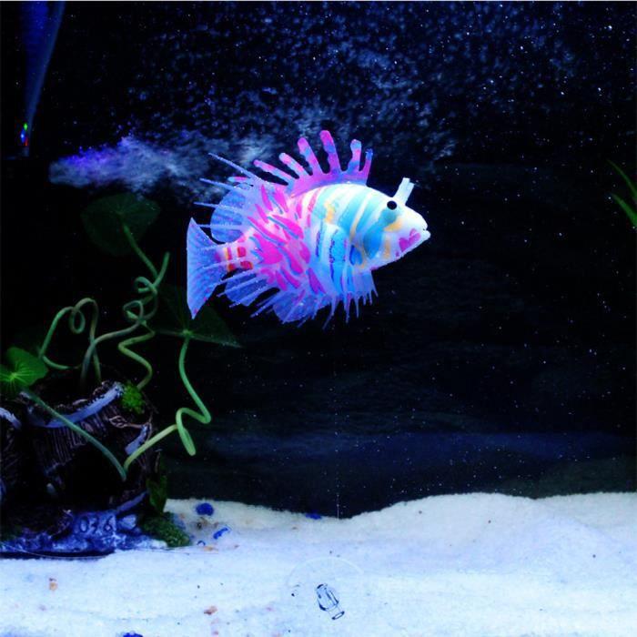 Les Poissons D'aquarium Artificielle En Silicone Lionfish Flottant Décorations @basilesmile202