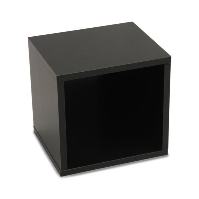 Étagère cube M73, rangement, combinable, 34x29x33cm, noir   Achat