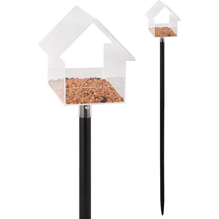 mangeoire oiseaux sur pied acrylique achat vente mangeoire tr mie mangeoire oiseaux sur. Black Bedroom Furniture Sets. Home Design Ideas