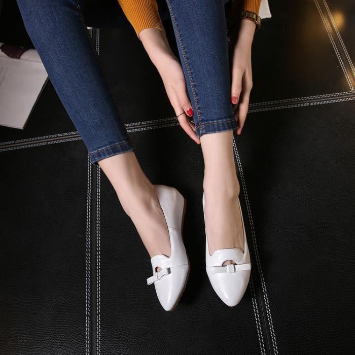 ballerine-Pure Color Low Heel Women bowknot Bal... SBMnTz