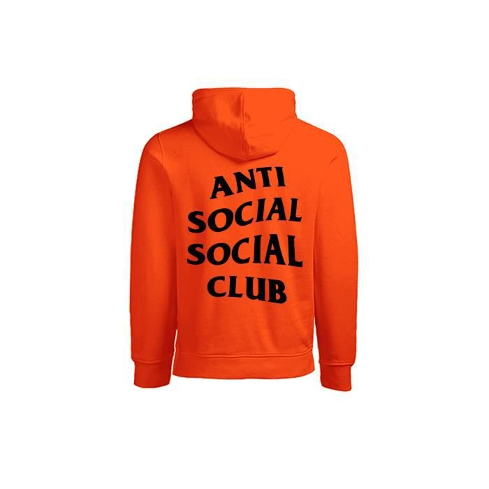 d01efcc4ce61 ANTI SOCIAL SOCIAL CLUB - SWEAT CAPUCHE PARANOID Orange Orange ...
