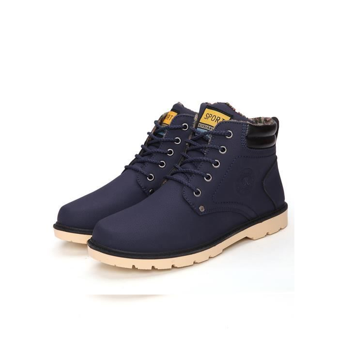 Bottes d'homme Comforty Casual Solide Couleur lacer Chaussures 8453936