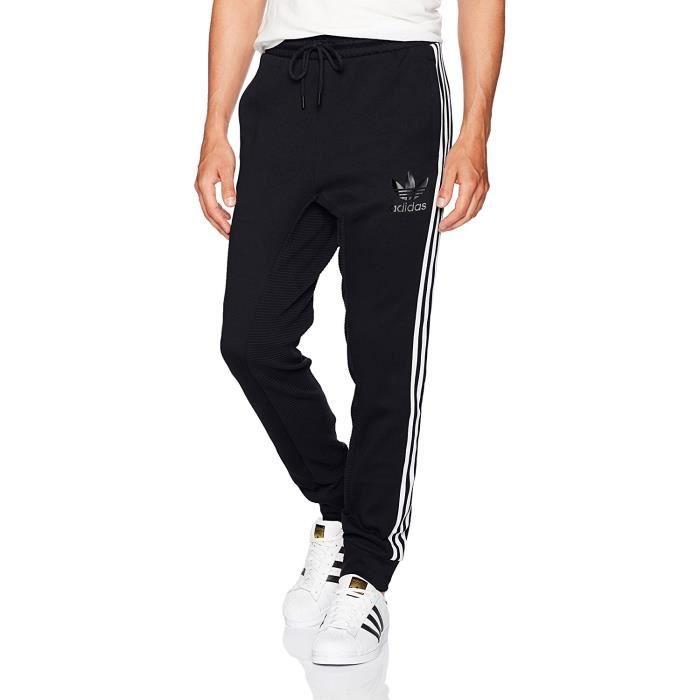 7a496c5da11fc Adidas Homme PANTALON DE SURVÊTEMENT CURATED SLIM Fit Noir Noir ...