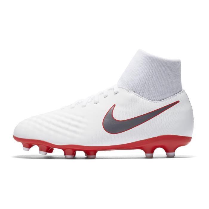 save off 43995 8f7bb Chaussures football Nike Magista Obra II Academy DF FG Blanc Junior