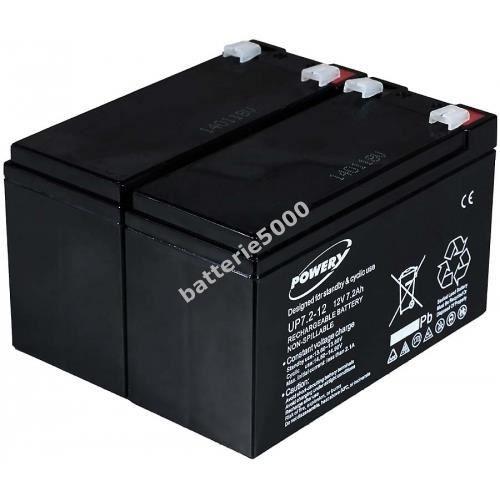 BATTERIE VÉHICULE Batterie gel-plomb Powery pour USV APC RBC 5 12...