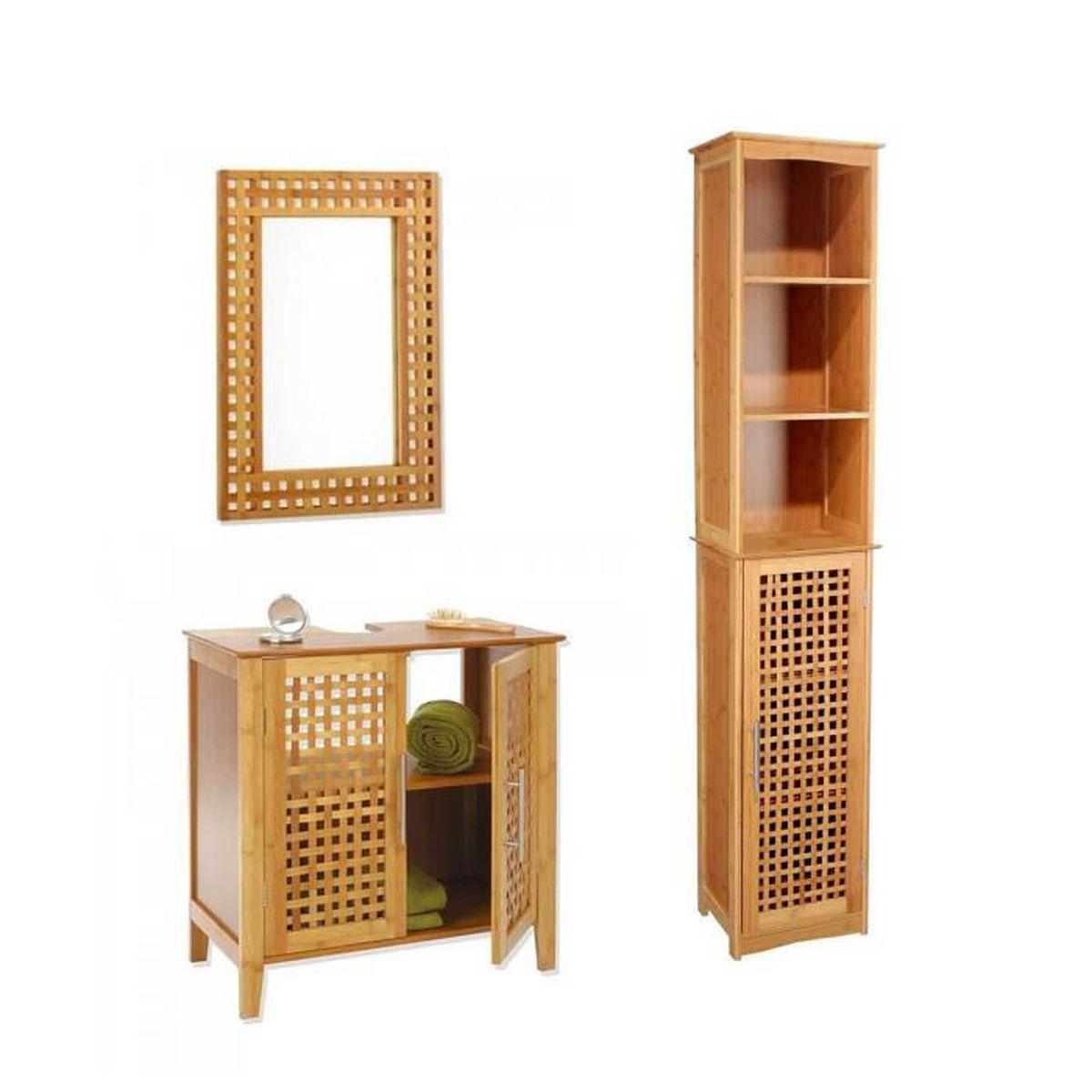 miroirs bambou achat vente miroirs bambou pas cher soldes d s le 10 janvier cdiscount. Black Bedroom Furniture Sets. Home Design Ideas