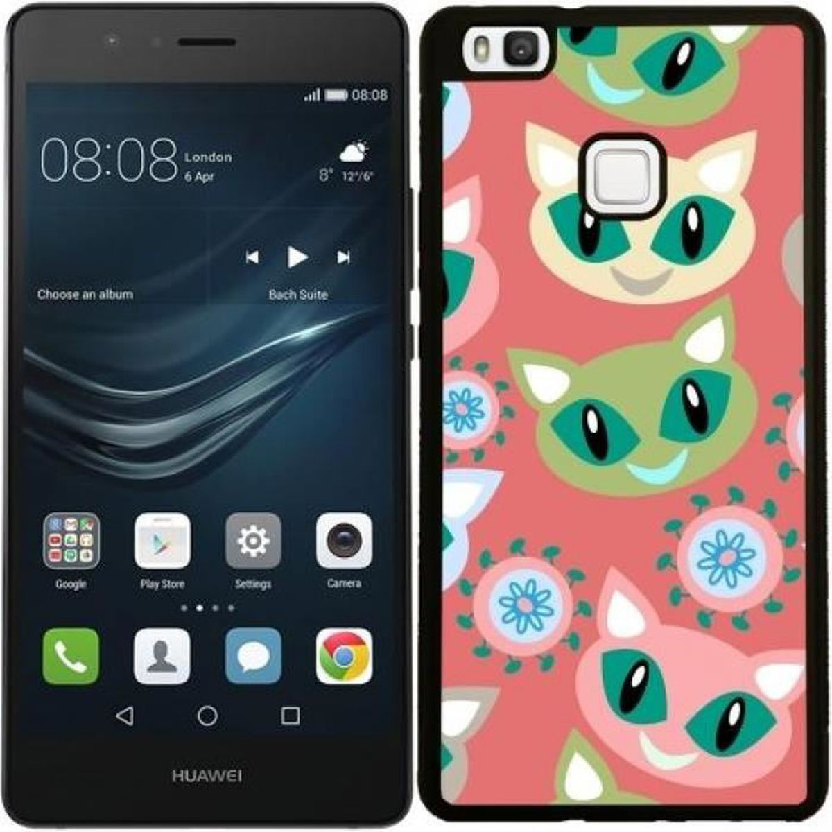 coque huawei p9 silicone chat