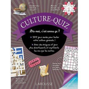 LIVRE JEUX ACTIVITÉS Culture quiz