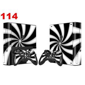 STICKER - SKIN CONSOLE Sticker-Decal Autocollant Xbox  -  360 E Black & w