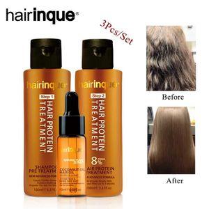 MASQUE SOIN CAPILLAIRE HAIRINQUE 8% Brazilian Keratin with Shampoo Pre Ke