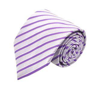 6157a5ff02d1e CRAVATE - NŒUD PAPILLON Ecravate - Cravate homme. Violet clair rayé