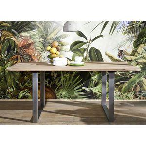 TABLE À MANGER SEULE Table à manger 200x100cm - Fer et Bois massif de p