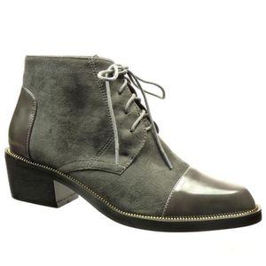 BOTTINE Angkorly -  Bottine Richelieu bi-matière low boots