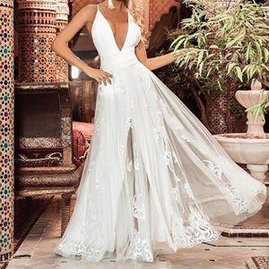 5c108896e6ed8 ROBE Les femmes sexy robe en dentelle blanche camisoles