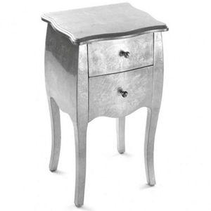 7364c2af4f9160 CHEVET TABLE DE CHEVET EN BOIS DANKA ARGENT