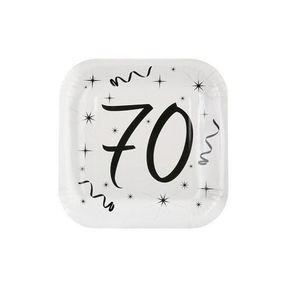 Décors de table Assiette blanche anniversaire 70ans (x10) REF/5240