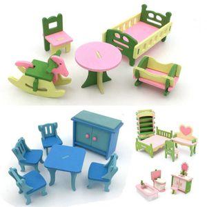 MAISON POUPÉE TEMPSA 4 Set Mobilier Miniature Maison De Poupée M