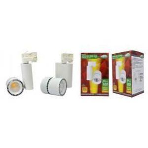 PROJECTEUR - LAMPE SPOT LED COB SUR RAIL 28W 230V 3000°K adaptateur r