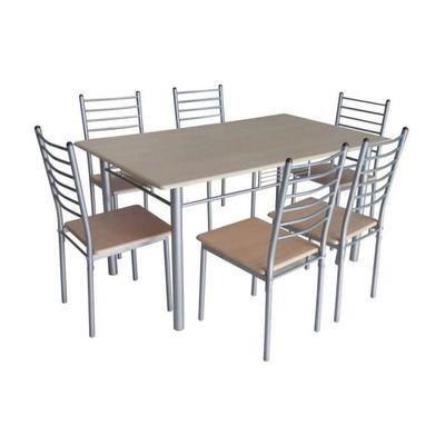 Set 1 Table 6 Chaises Emma Ensemble Pratique Et Convivial Pour