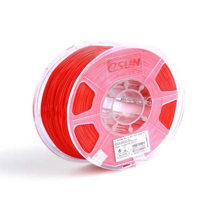 Esun Cartouche de filament PLA - 3mm - Rouge - 1 kg