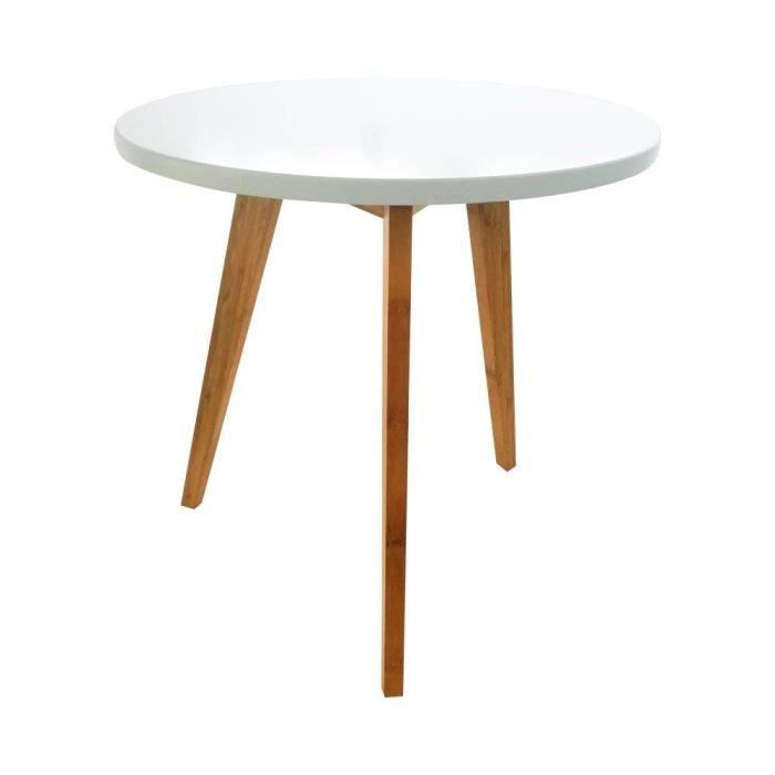 Table de salle à manger ronde de meubles de cuisine Table basse de trépied  en bois bureau à la maison, 50CM (W)   51 (haut) CM 0278a169f58b