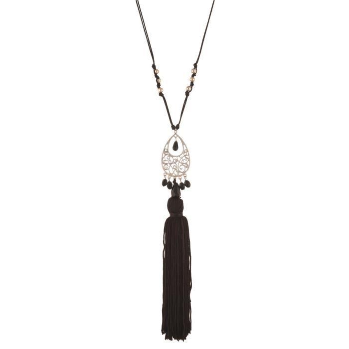 Mode féminine main Collier long avec pendentif Glands PourGL8LC
