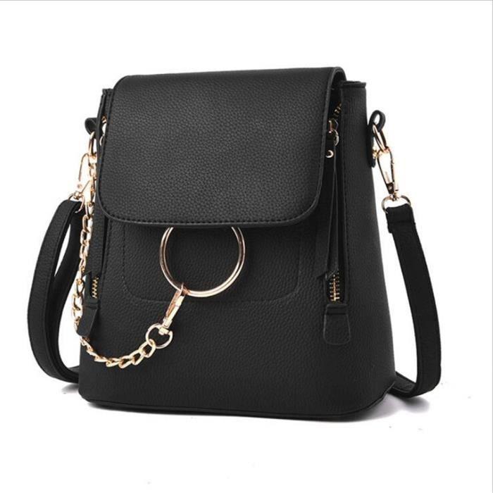 90358649b7 sac chaine luxe noir 2018 Sac Femme De Marque De Luxe En Cuir cartable femme  sac cuir chaine sac a bandouliere femme,