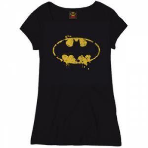 T-SHIRT T-shirt Batman Grunge Noir Femme