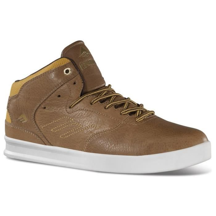 CHAUSSURES EMERICA MNS THE REYNOLDS LX BROWN/TAN/BROWN skateshoes