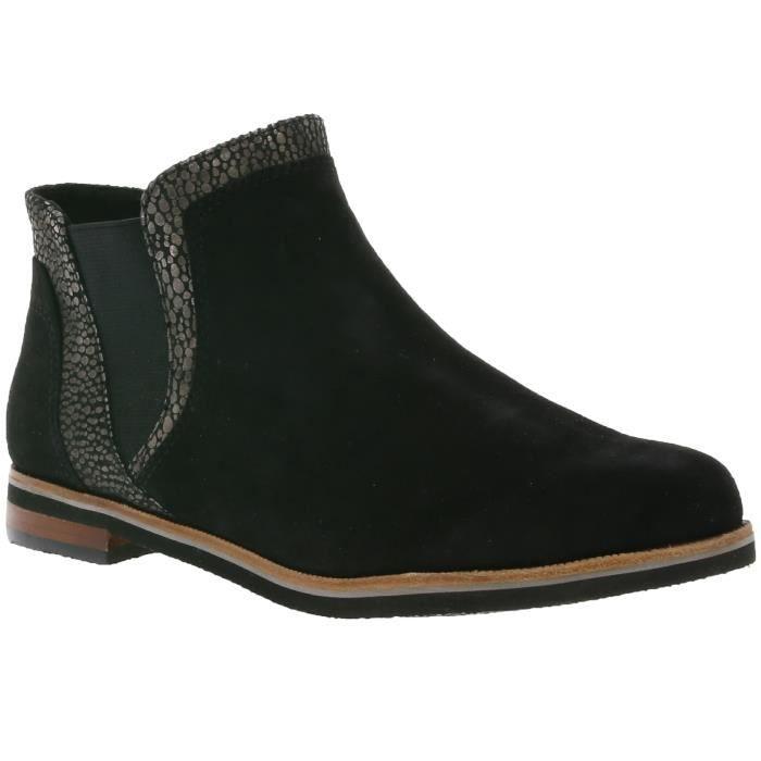 CAPRICE Bottes en cuir féminin en Chelsea noir 9-25304-29 027