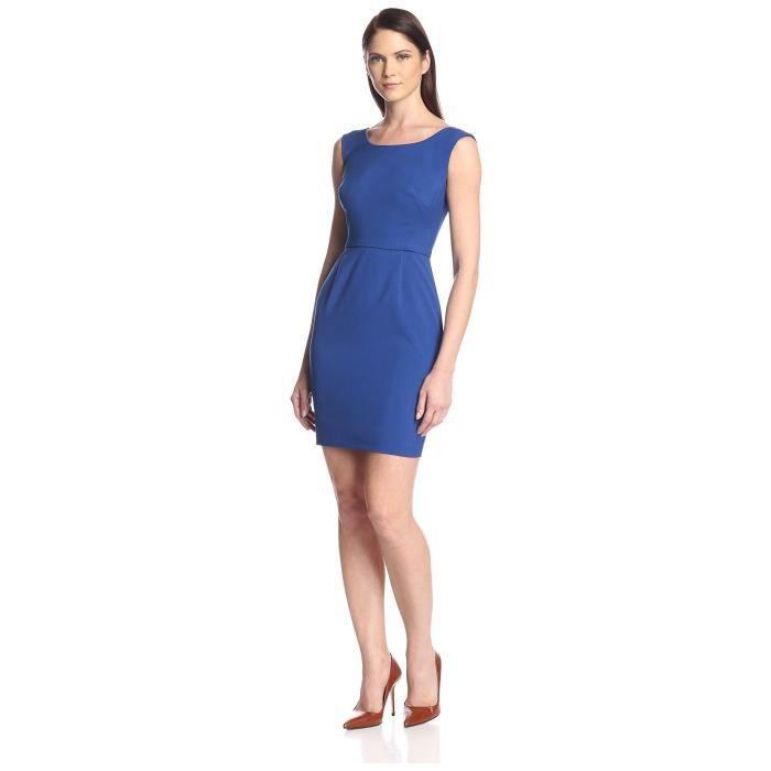 Craze robe sans manches en mousseline de soie plissée solide MKGM7
