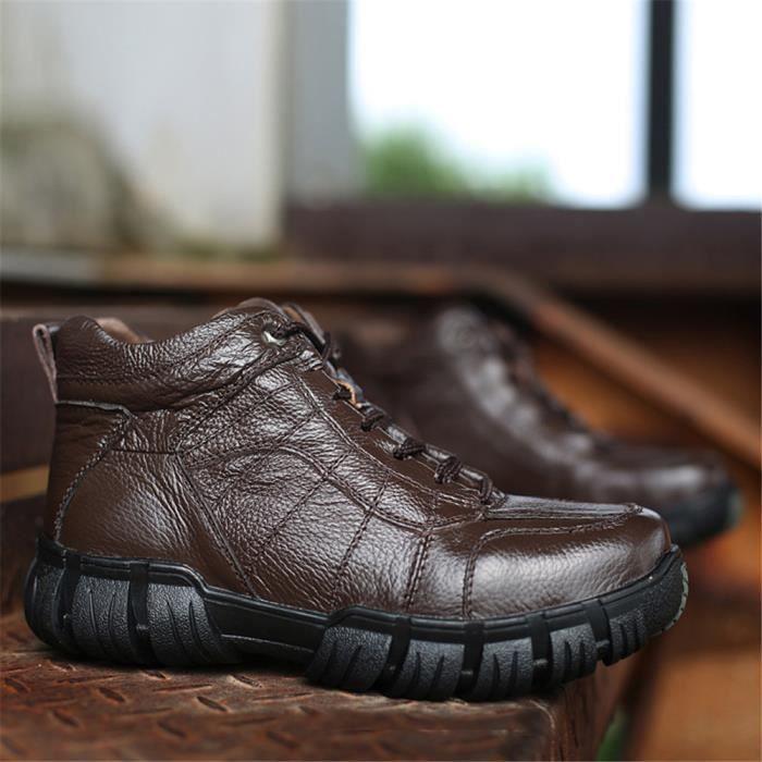 Bottines Homme Hiver Extravagant Haut Qualité Chaussure AntidéRapant Grande Taille 38-47