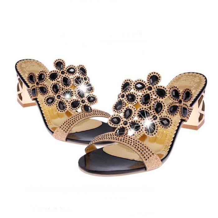 c1fd7e4ef90d Fat Mode Chaussures Haut Girls D'été Talon Tongs Femmes Sandales MpqUzVSG