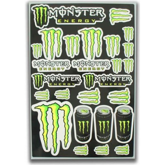 sticker monster energy achat vente pas cher. Black Bedroom Furniture Sets. Home Design Ideas