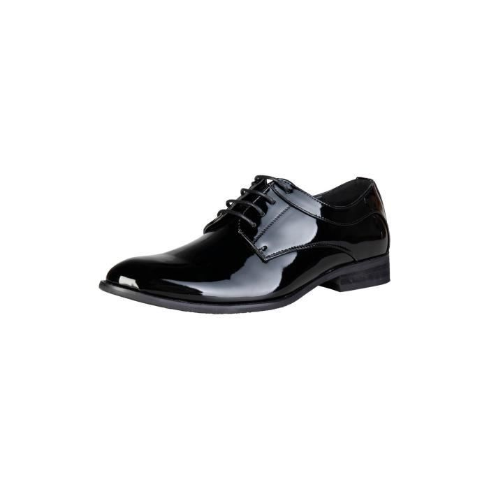 vernies Noir Pierre derby Chaussures 44 Cardin P qOyA846