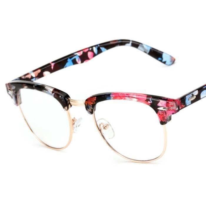 optiques Glasses Unisexe en Créatif Lunette Rétro verres petit de Nouveau floral Cadre x0qt1AE