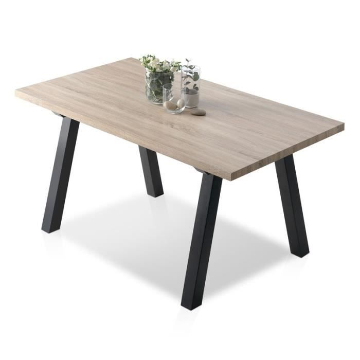 Table salle a manger style industriel - Achat / Vente Table salle ...