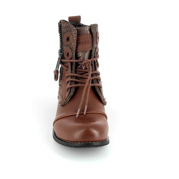 Botte et bottine BUNKER Boots Horma Sara Marron Cuivre