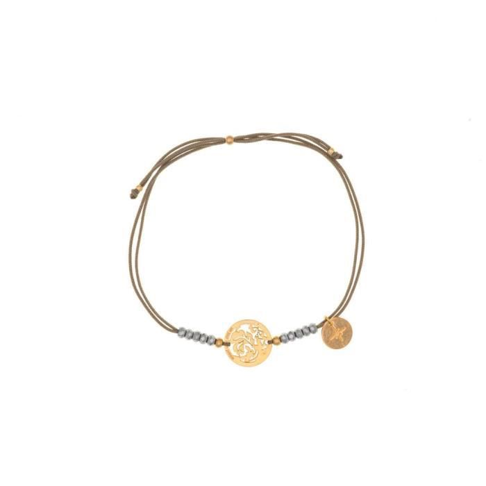 Un Jour Mon Prince laiton bohémien ??? bracelet hématite cordon ??? 18? cm ??? e16b53or7011 1RROOR