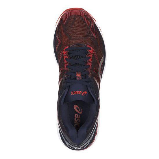 d6d50bcefcb7 Baskets Asics GEL-Nimbus 19 bleu foncé rouge - Prix pas cher - Cdiscount
