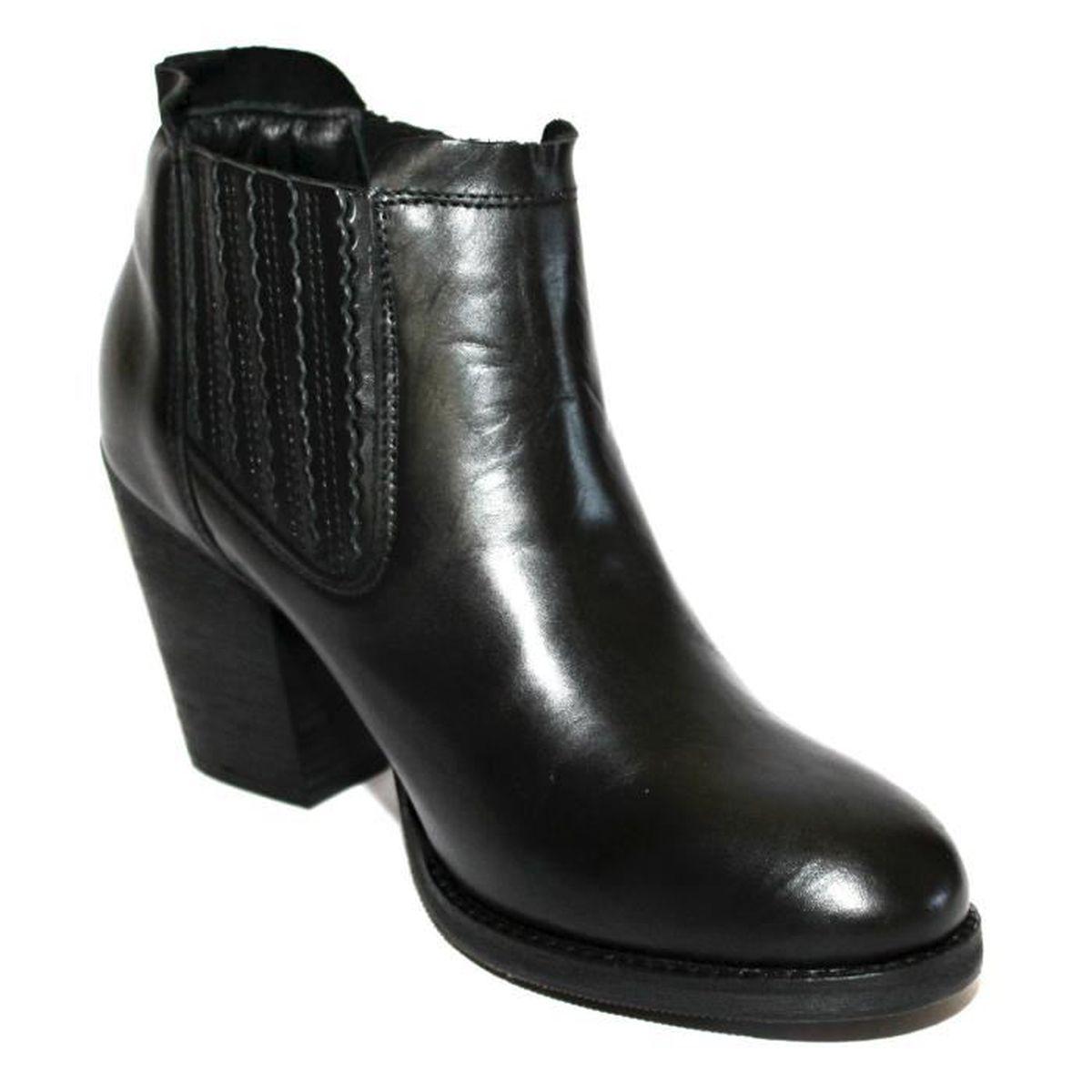 promo levi's bottines low boots cuir noir t 40 neuves noir - achat