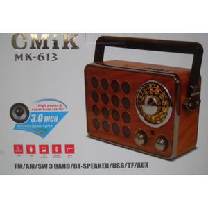 RADIO CD CASSETTE Bluetooth Radio Vintage Rechargeable 5 Band AM/FM/