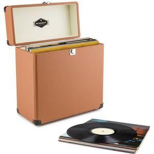 POCHETTE VINYLE auna Vinylbox - Coffret à vinyles style rétro en c