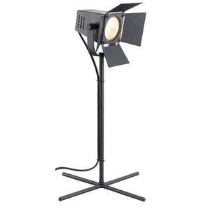 LAMPE A POSER Lampe de bureau forme projecteur en métal noir hau