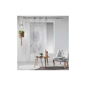 voilage marron achat vente voilage marron pas cher cdiscount. Black Bedroom Furniture Sets. Home Design Ideas