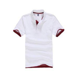 Bestgift Homme Courts Manches Polo T-Shirt Bleu Foncé +Gris XXXL 3UaTMfw2cr
