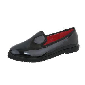 MOCASSIN Chaussures femme flâneurs la babouche noir 36