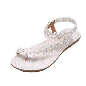 SANDALE - NU-PIEDS Femmes Summer Bohemia Fleur Perles Flip-flop Chaus ... 38fb8e28b658