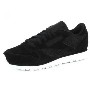 official photos 50d08 bf96b BASKET REEBOK Baskets Classic Leather Woven EMB - Femme ...